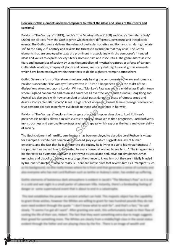 Gothic Genre Essay Questions - image 4