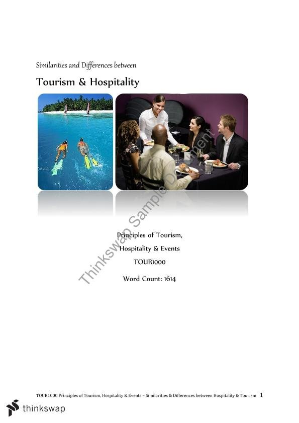 Similarities and differences between hospitality and tourism