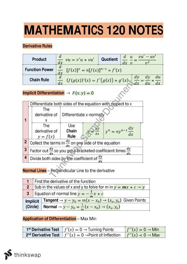 engineering mathematics 1 notes