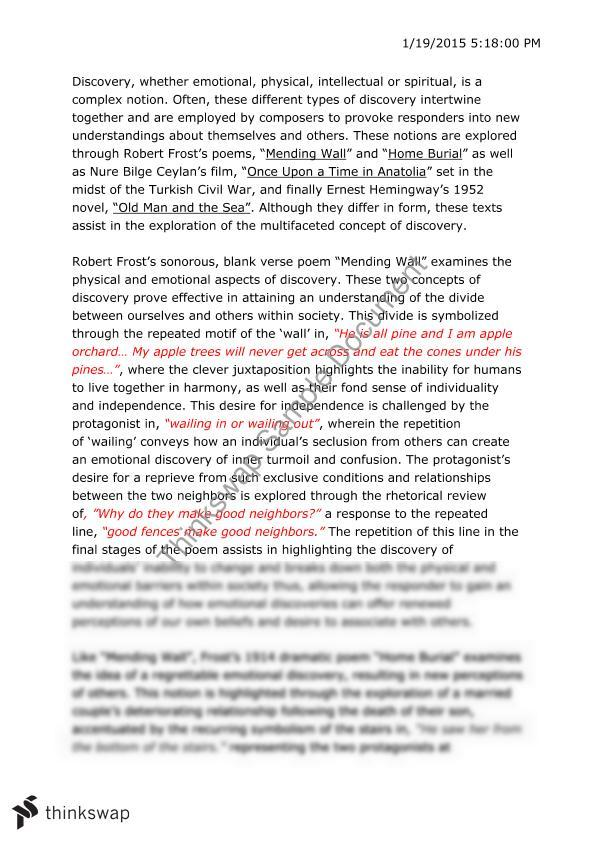 English Sample Essays Mending Wall Essay Frost Essay Extra Texts Year  Hsc English  English Essay Example also Custom Essay Paper Mending Wall Essay  Underfontanacountryinncom Compare Contrast Essay Papers
