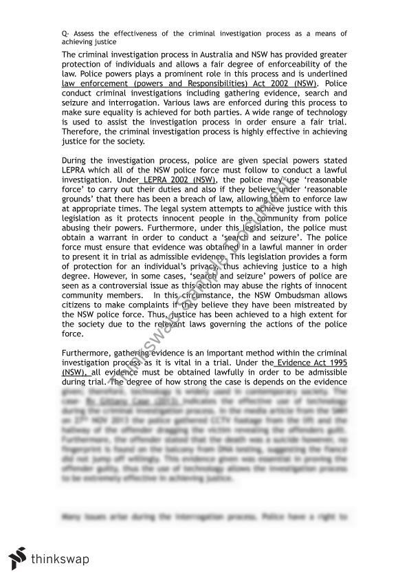 Criminal Investigation Process Essay Ideas - image 3