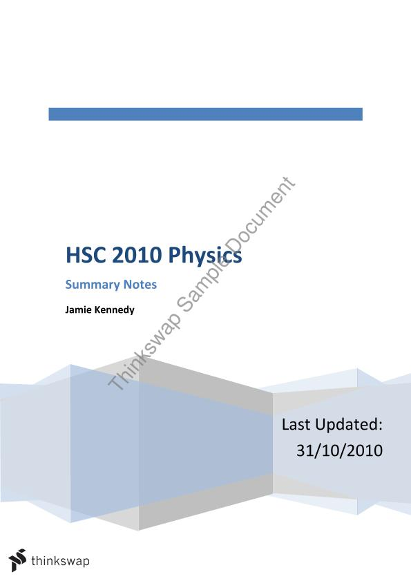 hsc physics notes