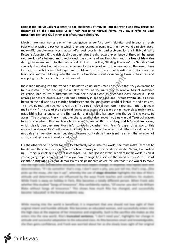 sample essays hsc english   hsc english band  discovery