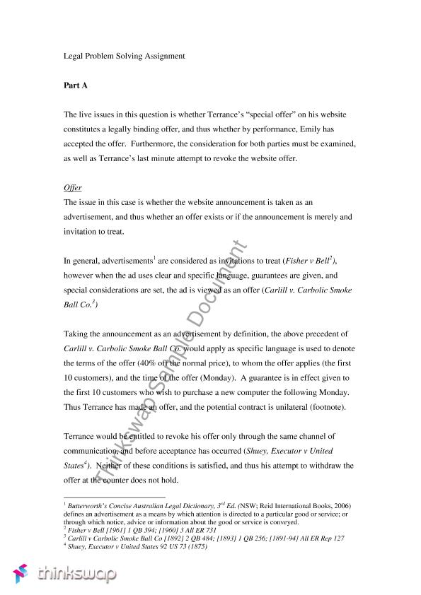 Legal problem solving assignment claw1001 foundations of 2 exchange credits stopboris Choice Image