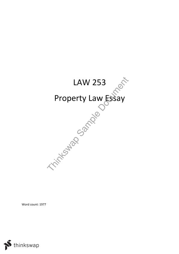 essay on what is property law property thinkswap essay on what is property