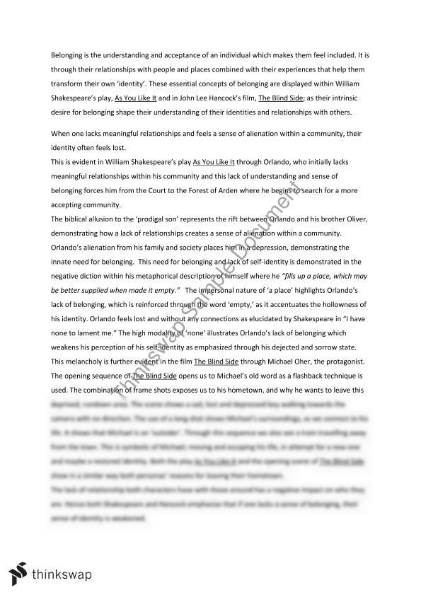 belonging essay year hsc english advanced thinkswap belonging essay