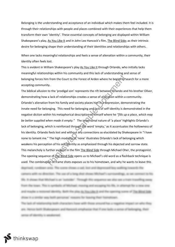 Rights Of Women Essay Belonging Essay Labor Union Essay also Essay Map Graphic Organizer Belonging Essay  Year  Hsc  English Advanced  Thinkswap Write College Essays For Money