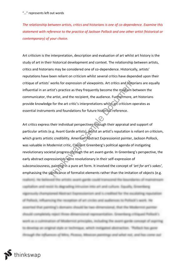 art theory essay writing A collection of essays presentating a range of perspectives on the relationship between the art object and the language of art history with notes and an index art theory and criticism: an anthology of formalist, avant-garde, contextualist, and post-modernist thought by sally everett.