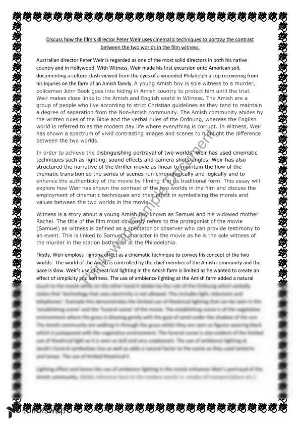witness harrison ford essay year hsc english standard  witness harrison ford essay