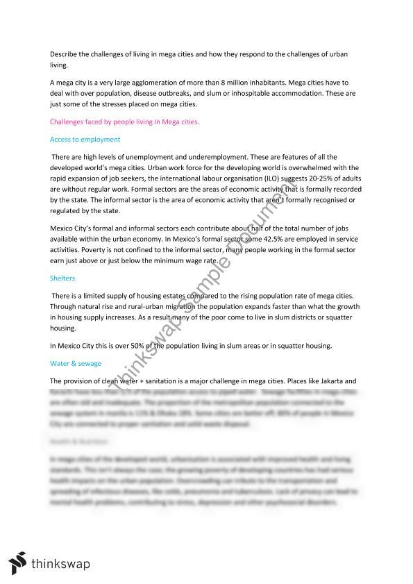 hsc geography urban essay year hsc geography thinkswap hsc geography urban essay