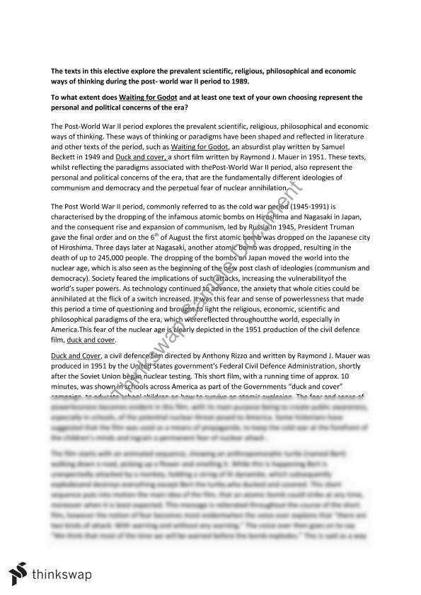 ways of thinking essay year hsc english extension  ways of thinking essay