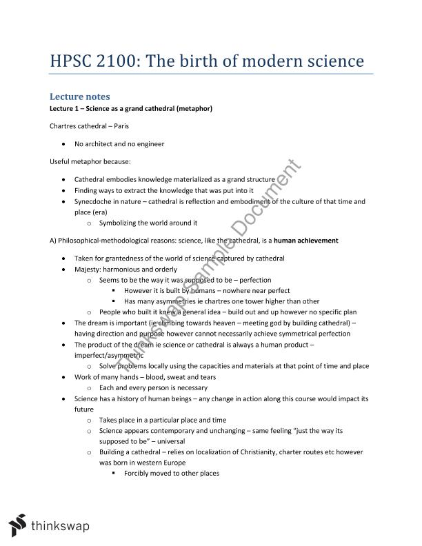 Essay on modern science