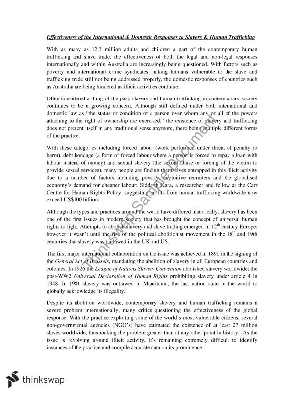 slavery essay year hsc legal studies thinkswap slavery essay