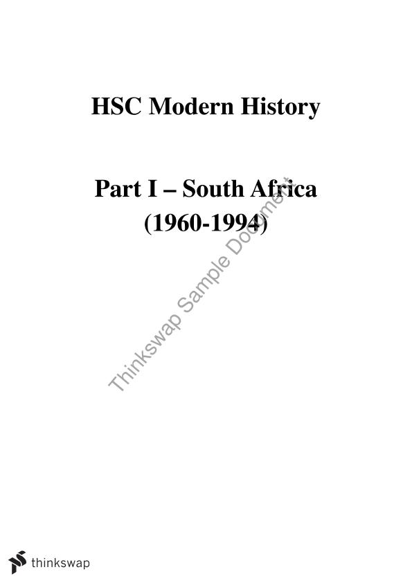 hsc modern history essay south africa year hsc modern hsc modern history essay south africa
