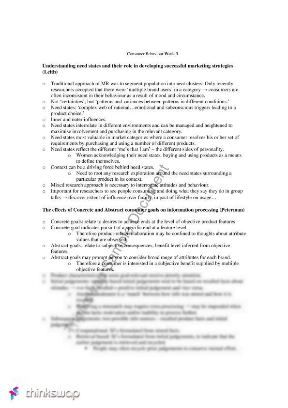 mark2051 notes Mark2051 consumer behaviour: faculty : unsw business school: school :  class notes: back to top: back to top: unsw sydney nsw 2052, australia telephone: (within.