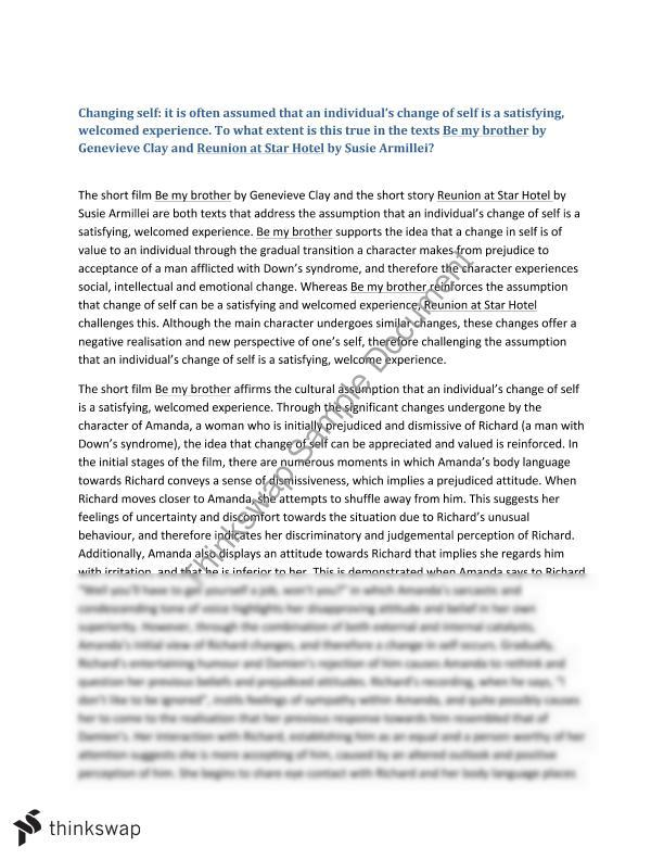 changing self essay year hsc english advanced thinkswap changing self essay