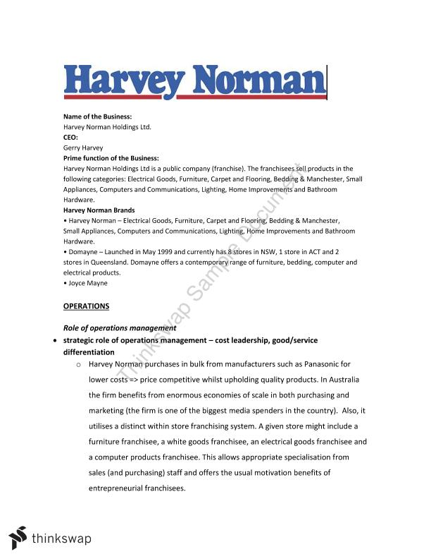 harvey norman analysis The question is about a report on financial analysis of harvey norman holding ltd the analysis includes calculating various ratios and interpreting annual reports.