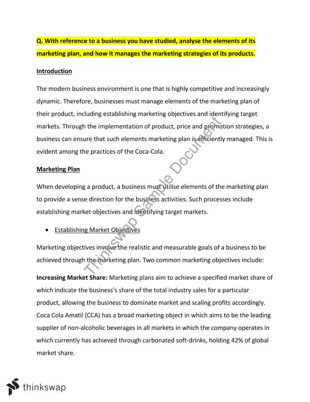 hsc section long essay responses marketing finance year  hsc section 4 long essay responses marketing finance