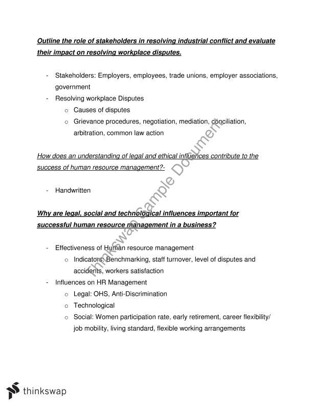 human resources essay