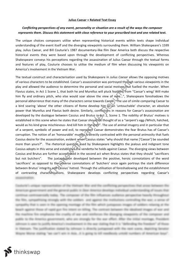 essay on caesar Argumentative essay on julius caesar the death of julius caesar was a bitter and gruesome one he died by the hand of his friend brutus and his own group of senators who badly mutilated his body.
