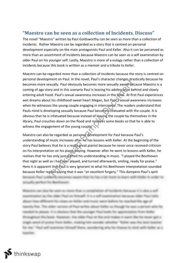 maestro essay and analysis year vce english thinkswap maestro essay and analysis