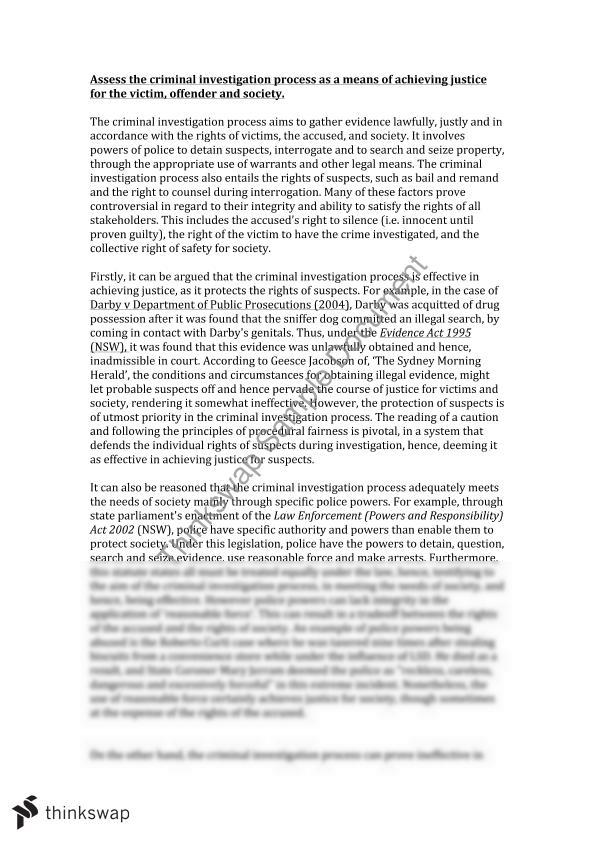 Criminal Investigation Process Essay Ideas img-1