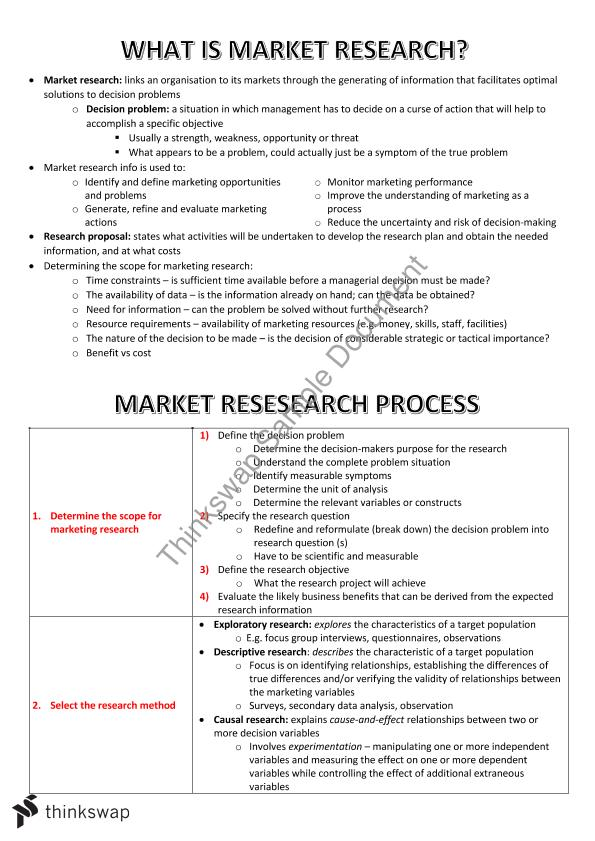 marketing research notes for bba pdf