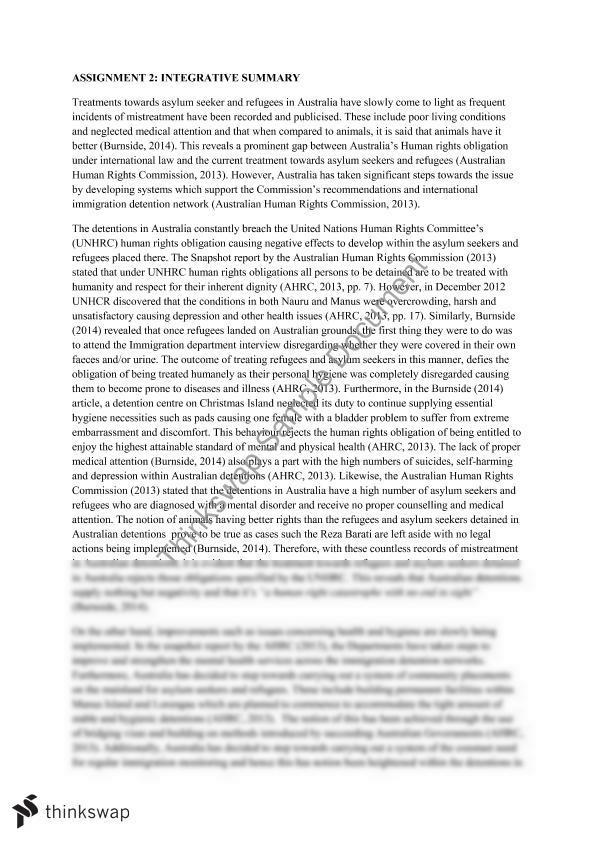 integrative essay