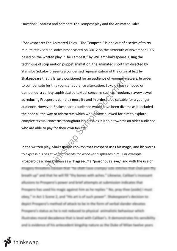 prospero essay tempest Category: tempest essays title: character of prospero in shakespeare's the tempest.