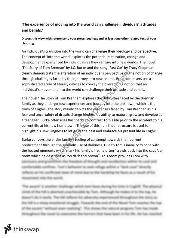 Into The World | Year 12 HSC - English (Standard) | Thinkswap