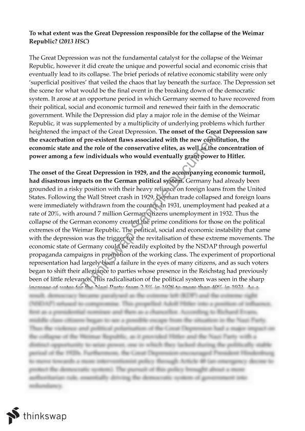 great depression 2 essay Sharla hanley the great depression the great depression, an immense tragedy that placed millions of americans out of work, the great depression in general.