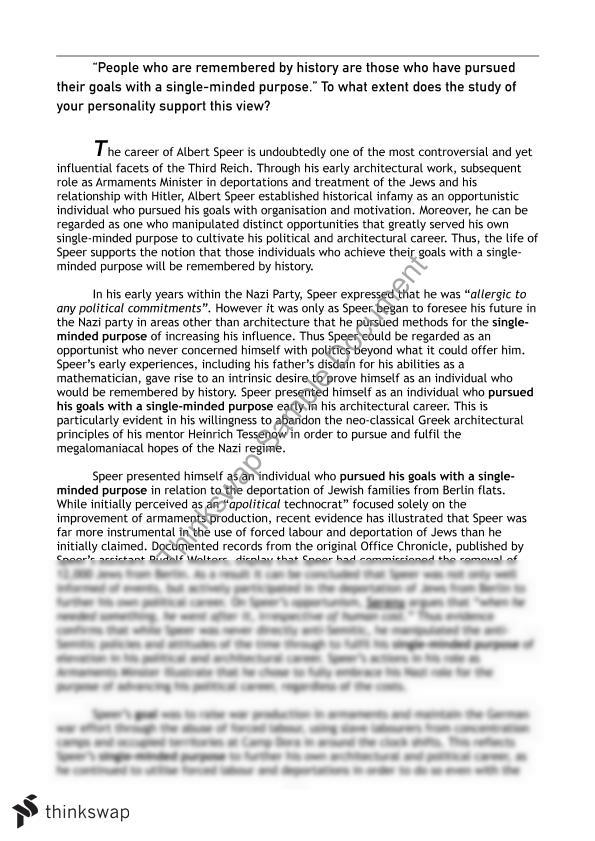speech on albert speer personality in the th century section  albert speer essay 15 15