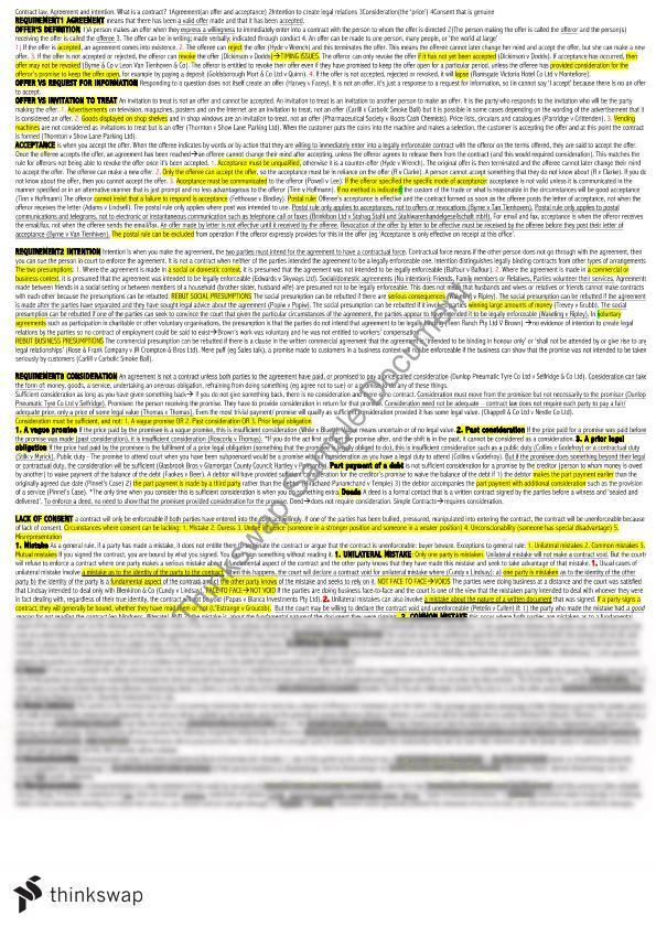 torts cheat sheet