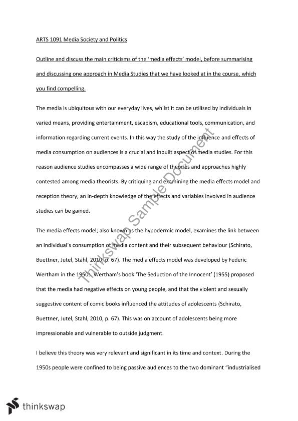 Media influence on politics essay