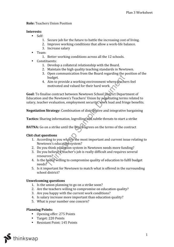 negotiation worksheet the best and most comprehensive worksheets. Black Bedroom Furniture Sets. Home Design Ideas
