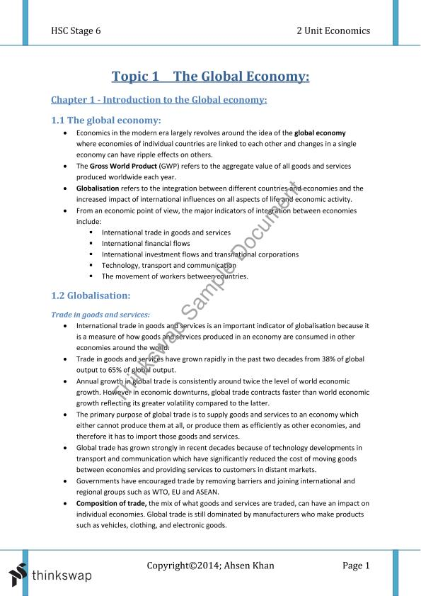 hsc economics notes the global economy 2001 hsc notes from the examination centre – economics 5 2001 hsc notes from the examination centre economics introduction this document has been produced for the teachers and candidates of the economics course.