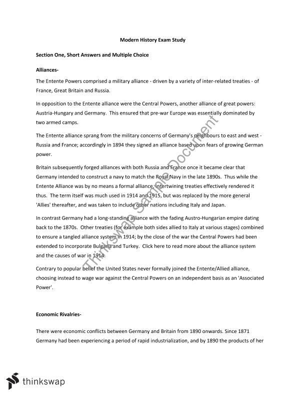 Year 11 Modern History Exam Revision | Year 11 HSC - Modern