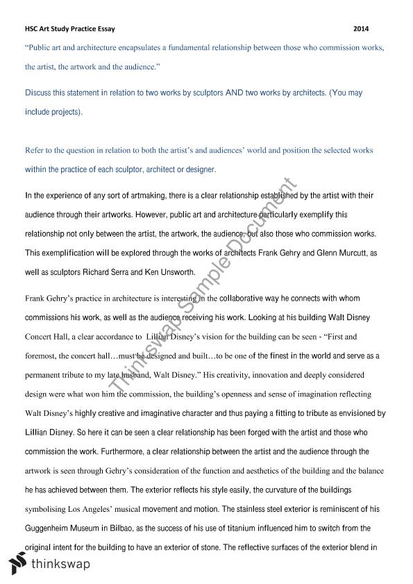 Interesting Essay Topics For High School Students Va Case Study Essay  My English Class Essay also English Essays For Students Va Case Study Essay   Year  Hsc  Visual Arts  Thinkswap How To Write A Thesis Statement For An Essay