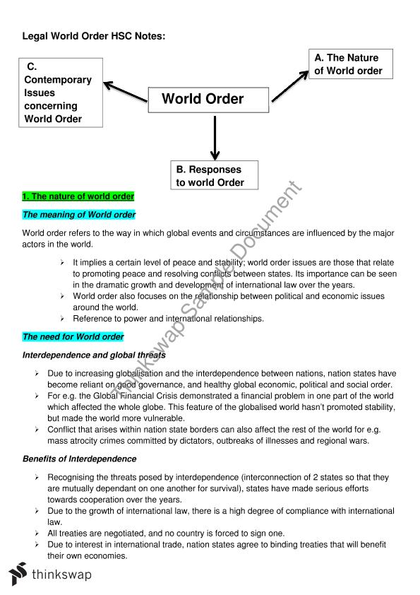 world order hsc essays Bergen academy essay help hsc legal studies world order essay college admission essay best distance learning how to write fiction.