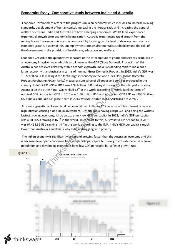 Gross domestic product essay