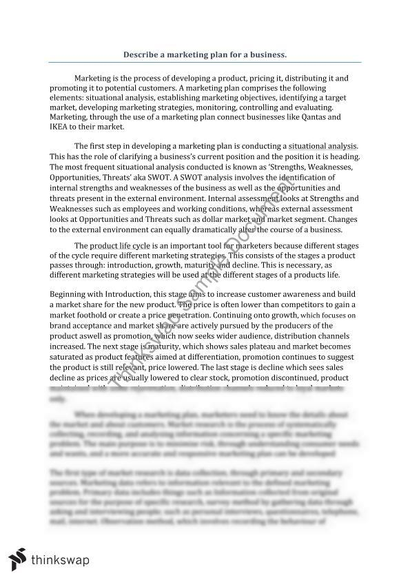 Marketing analysis essay