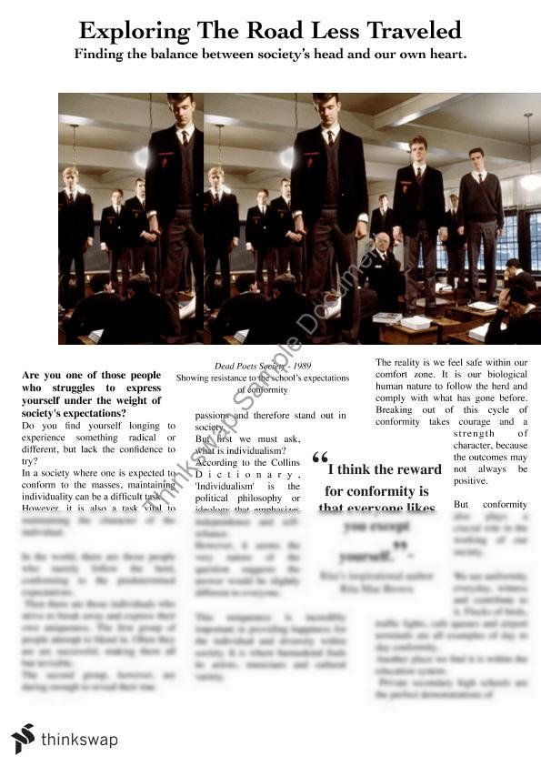 Feature Article on Dead Poet's Society | Year 11 HSC - English ...