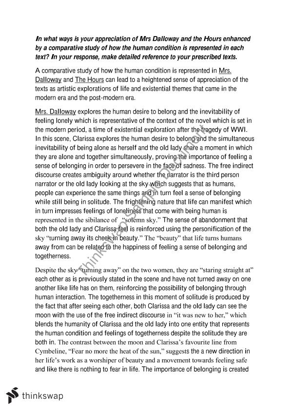 mrs dalloway essay questions