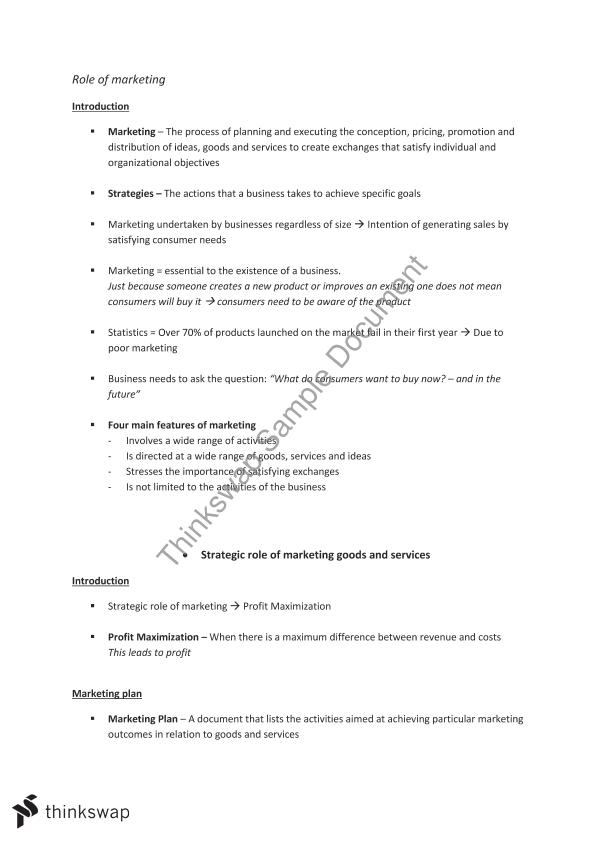 business studies marketing notes Business studies marketing notes  topics: marketing  business studies notes essay 102 hsc topic: marketing-&gt total system of.