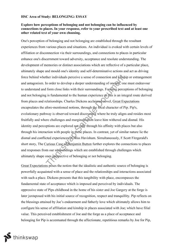 How long should a belonging essay benjamin