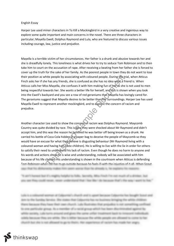 To Kill A Mockingbird Justice Essay  Writer Wanted also Interview Essay Paper  Essay For English Language