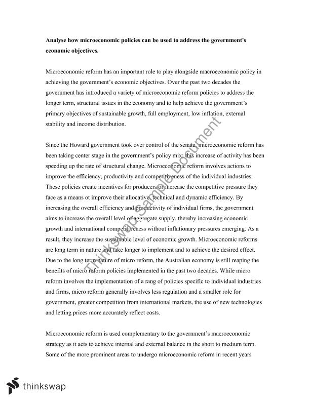 microeconomic reform essays Microeconomic reform reportage essay  esl university essay ghostwriting website for university essay on bhangra in punjabi language environmental economics term paper.