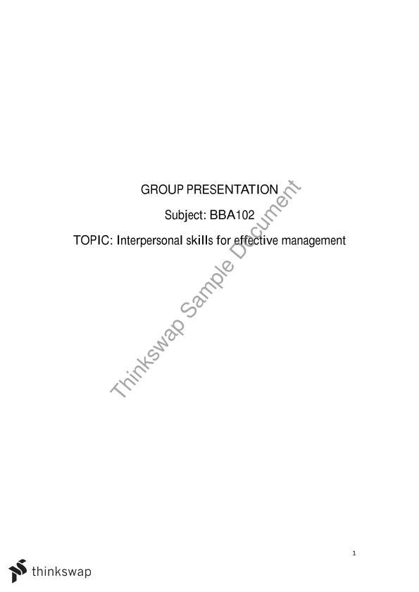 bba102 summary