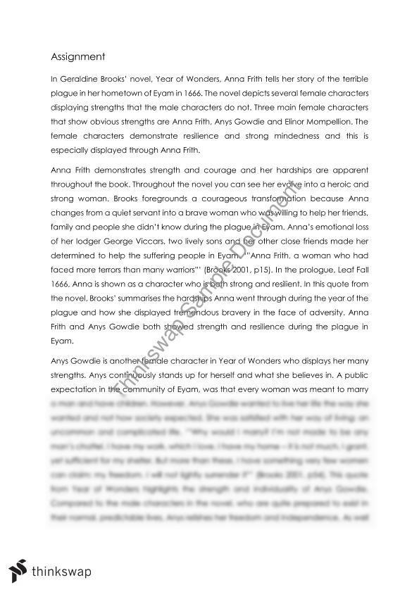 Mem Gowdie Character Profile Essay - image 11