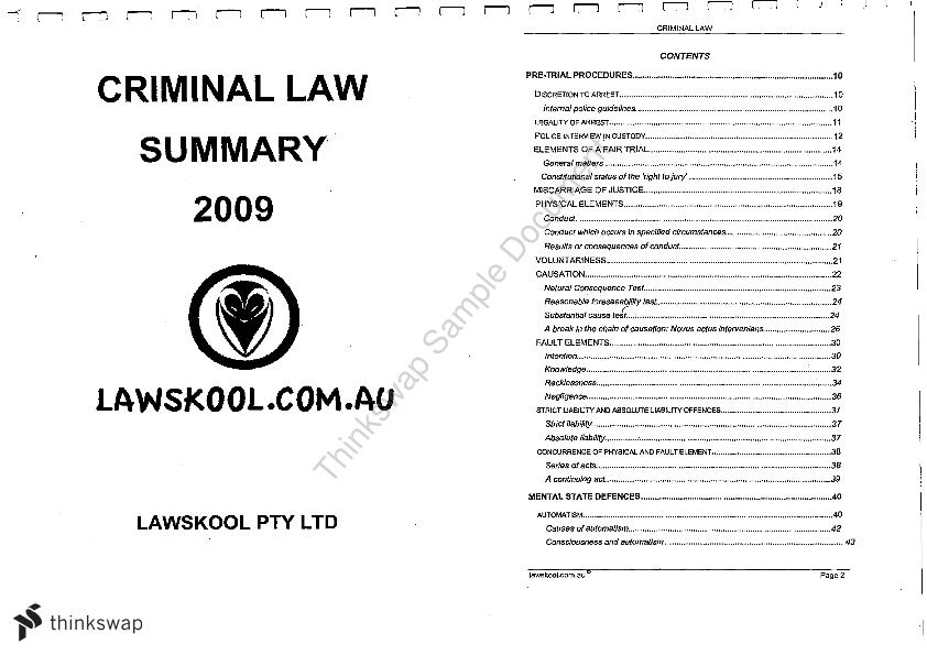 law criminal law notes